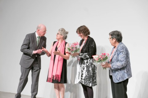Paul Unschuld, Angelika Messner and the Basham Medal Awardees Judith Farquhar and Shizu Sakai
