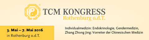 The picture shows the banner of the TCM Kongress Rothenburg o.d.t.