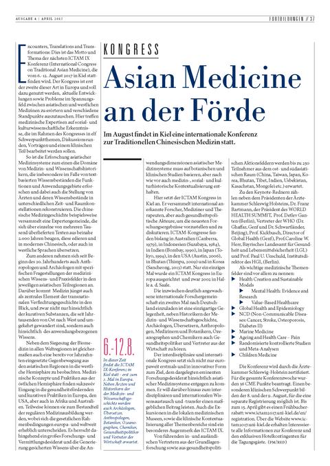 Artikel Ärzteblatt SH April